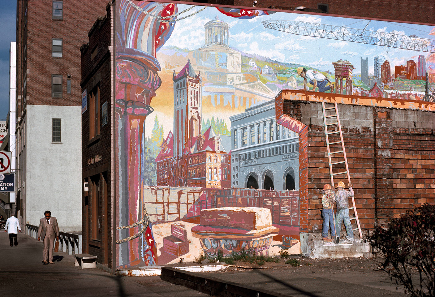 Mural at Grant Street and Boulevard of the Allies